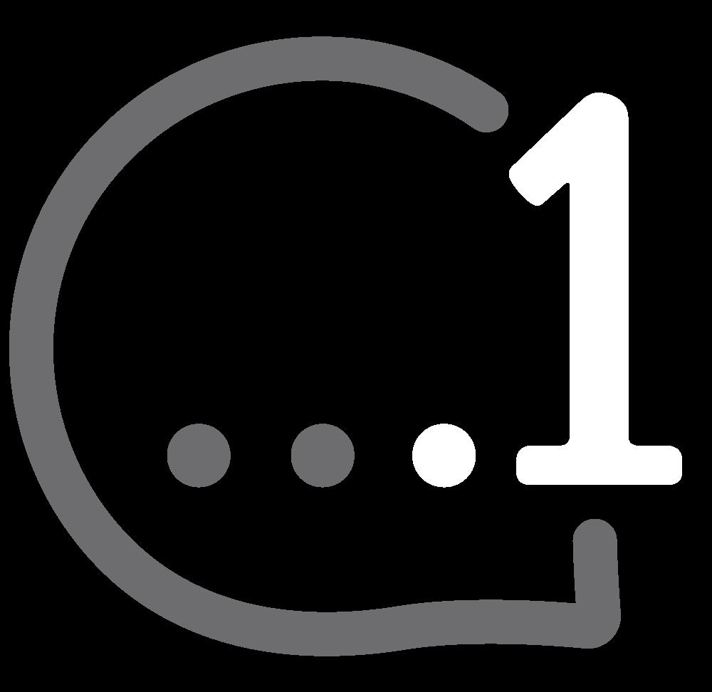 .1 TLD Logo (white)