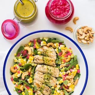 Lemon Oregano Chicken and Corn Salad