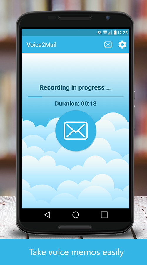 Voice2Mail – Voice Recorder- screenshot