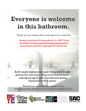 Photo: Bathroom fliers, Washington, DC, USA