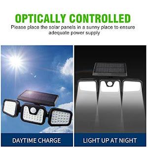Lampa solara tripla split, senzor de de miscare, 15 W, IP65, 1200 mAh