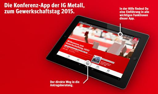 IG Metall Konferenz-App