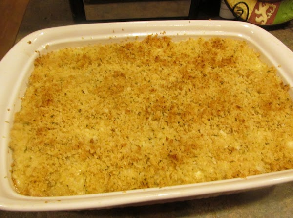 When topping is browned remove from oven.