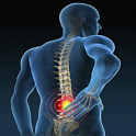 Back pain treatment icon