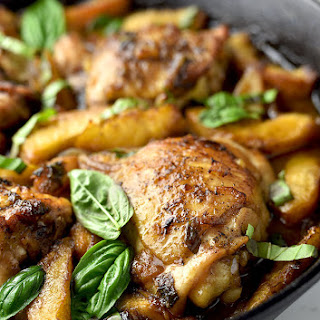 Balsamic Basil Peach Chicken.