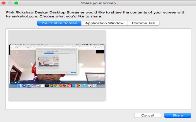 Pink Rickshaw Design Desktop Streamer