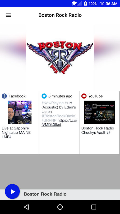 Boston Rock Radio- screenshot