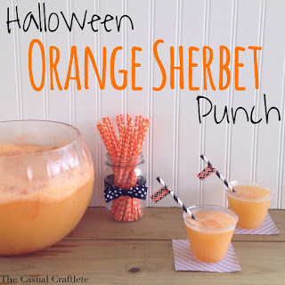 Halloween Orange Sherbet Punch.