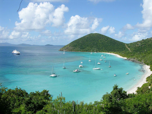 white-bay-jost-van-dyke.jpg - Visit scenic White Bay on Jost Van Dyke in the British Virgin Islands on a SeaDream cruise.