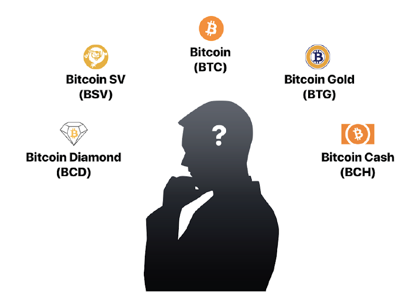 Fig. 5. Examples of Bitcoin forks.