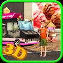 Ice Cream Delivery Van 3d icon