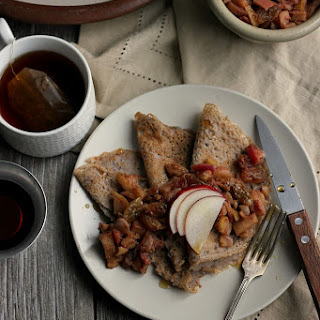 Maple Buckwheat Crepes with Spiced Apple + Chestnut Relish Recipe