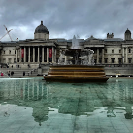 Trafalgar square, London  by Titus Criste - City,  Street & Park  Fountains ( london, trafalgar square, big city, iphone,  )