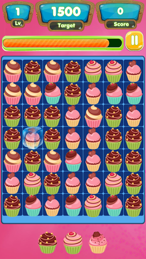 Cupcake frenzy Match game