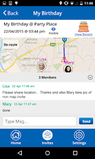 MapMyMeet - Meet Up by messaging Directions Routes- screenshot thumbnail