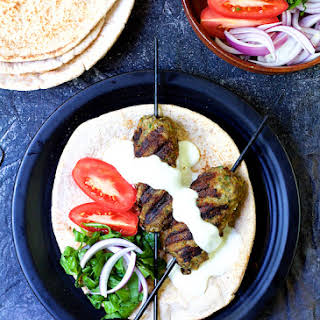 Grilled Turkish Ground Lamb Kebabs.