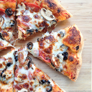 Pepperoni, Mushroom & Olive Pizza
