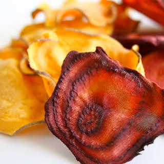 Sweet Potato And Beet Chipppps!.