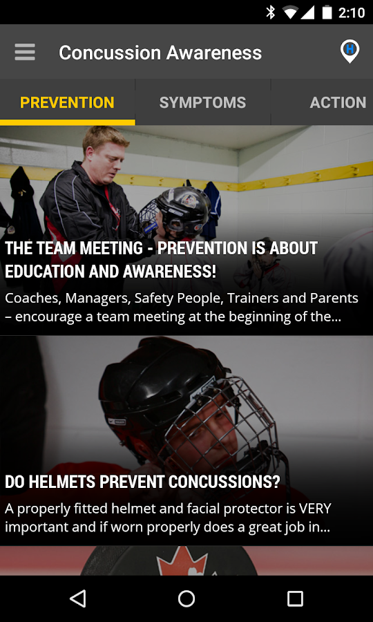 Concussion Awareness- screenshot