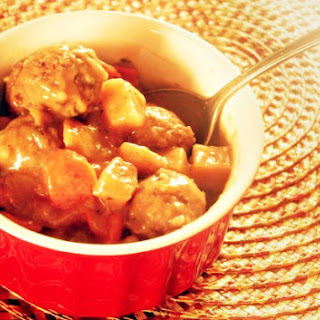 Crock-Pot Meatball Beef Stew.