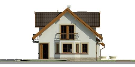 Dom przy Modrzewiowej 11 - Elewacja lewa