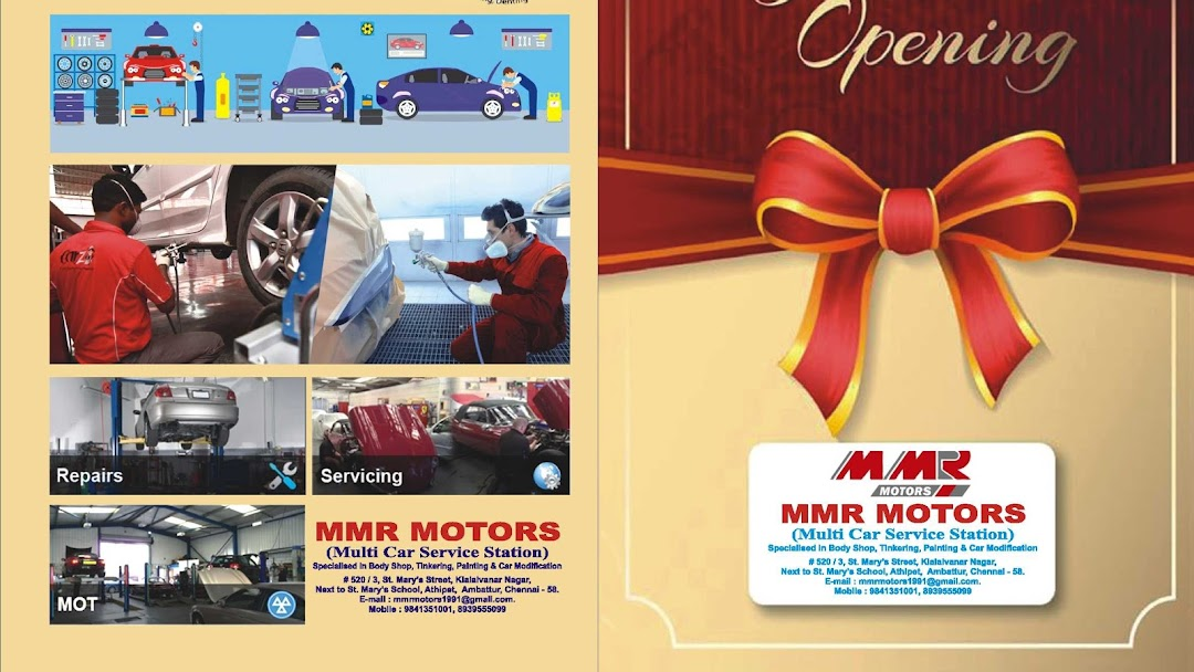 MMR MOTORS - SPECIALISED IN BODY SHOP, TINKERING, PAINTING