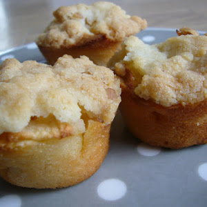 Almond Danish Muffins with Apple Crumble
