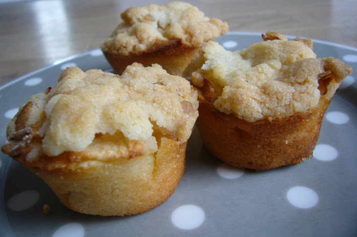 Almond Danish Muffins with Apple Crumble Recipe