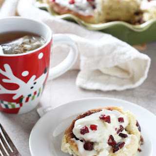 Cranberry Bliss Cinnamon Rolls