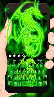 Green Flame Dragon Keyboard Theme - náhled