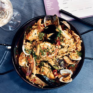 Seafood-and-Chicken Paella with Chorizo.