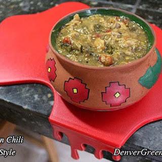 Pork Green Chili (Colorado Style).