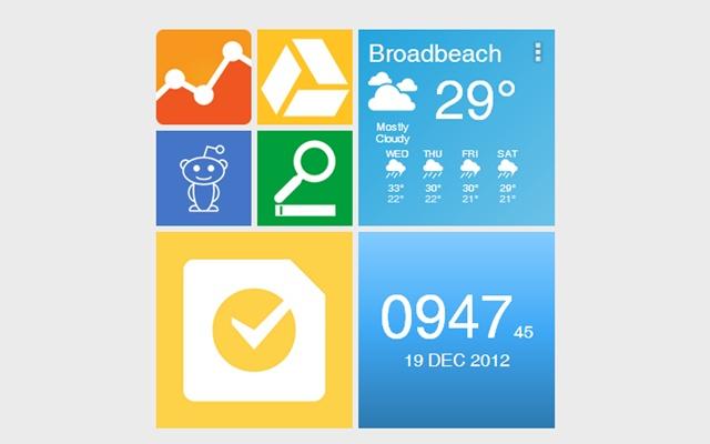 Metro Style Clock Widget [ANTP]