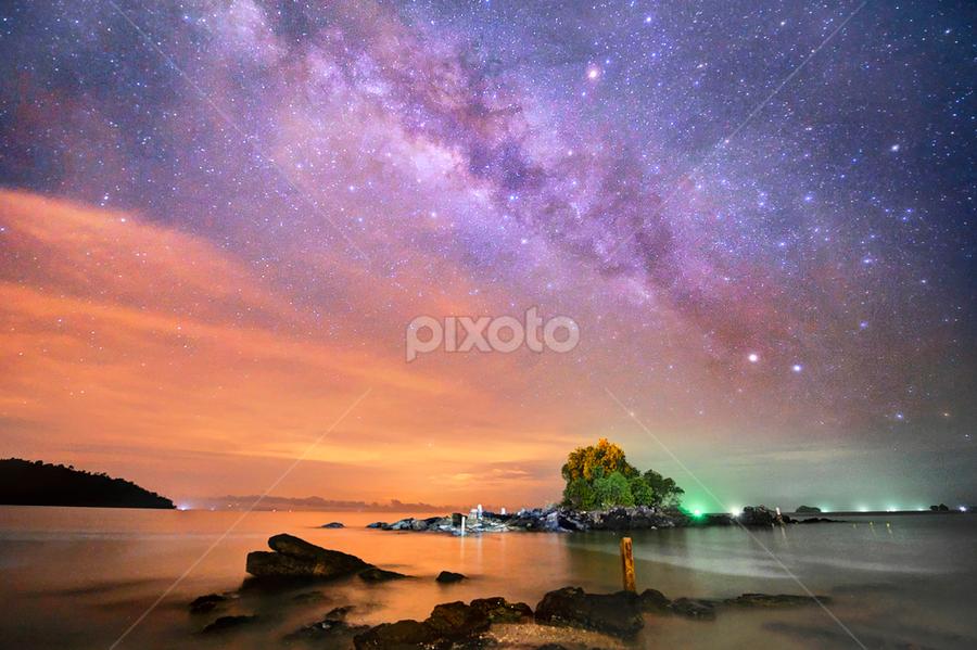 Milky Way by Chegu Diman - Landscapes Starscapes ( chegu diman, starscape )