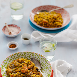 Shrimp Salmon and Saffron Fregola