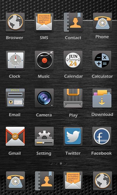 Скриншот Classic Black Theme - ZERO