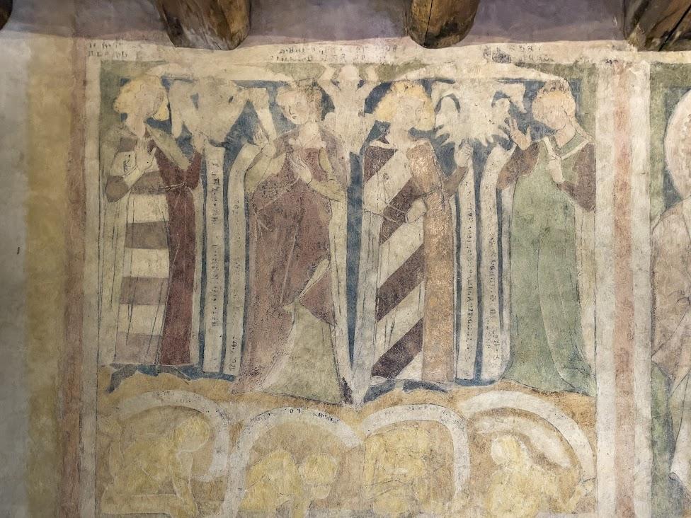 średniowieczne malowidła naścienne w Wieży Książęcej w Siedlęcinie
