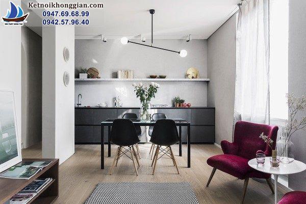 thiết kế phòng bếp đơn giản sáng tạo