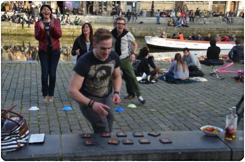 Stadsspel met tablets