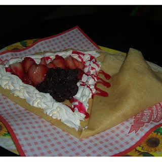 Filled Strawberry Crepes.