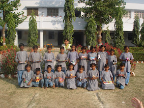 Photo: Children with toys sent from the UK at Project Mala