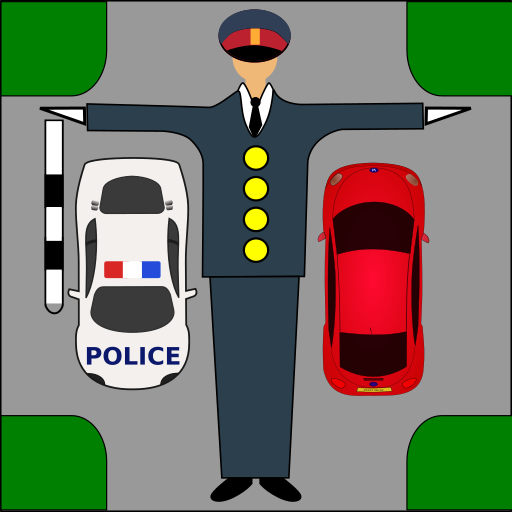 Driver Test: Traffic Guard Icon