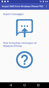Import SMS from Windows Phone PRO - náhled