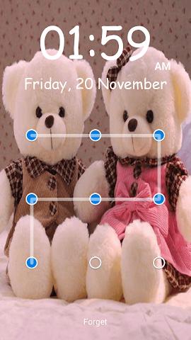 android Teddy Bear Pattern-Bildschirm Screenshot 1