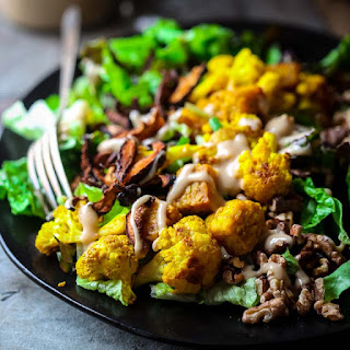 Turmeric Roasted Cauliflower And Tempeh Power Salad Vegan.