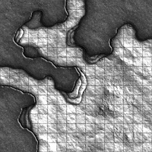 Photo: Here's the first of the 'cave-corner' style geomorphs that I'm going to be creating during the next 16 weeks.