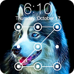 Husky ART Pet Dog Pup Wallpapers HD PIN Lock