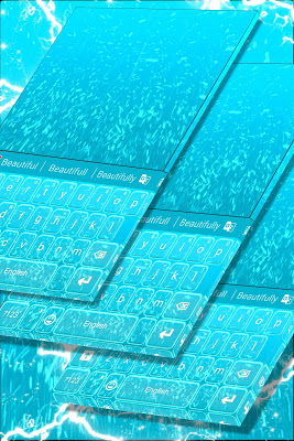 Blue Fairy Keyboard Theme - screenshot