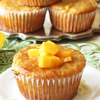 Banana Quinoa Mango Muffins.