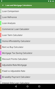 Financial Calculators Screenshot